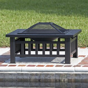 Fire Sense Stonemont Steel Wood Burning Fire Pit Table