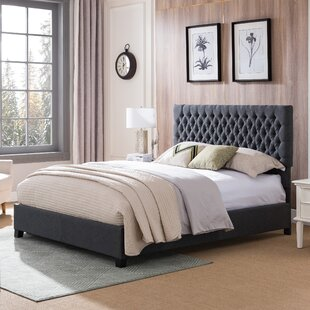 Cleobury Queen Upholstered Panel Bed by Charlton Home
