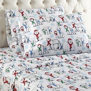 Alcott Hill Buckner Polar Bears Cotton Sheet Set