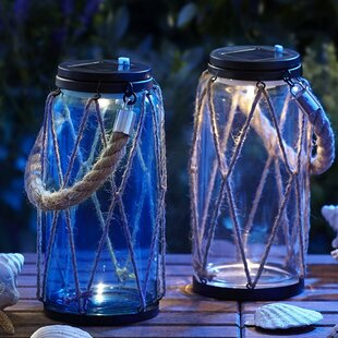 Rope 1-Light LED Outdoor Hanging Lantern (Set of 2) by Moonrays