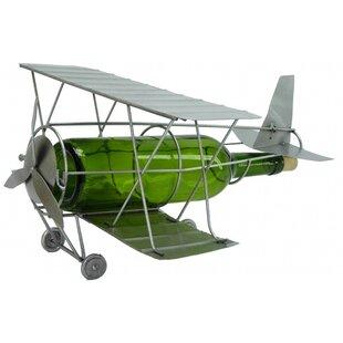 Antique Plane 1 Bottle Tabletop Wine Rack..