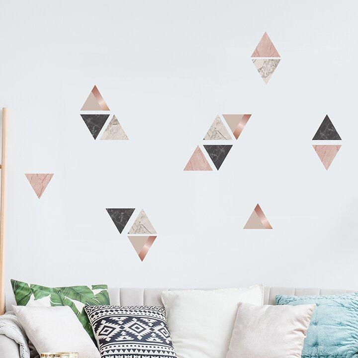Ebern Designs Marble Triangles 32 Piece Wall Decal Set Wayfair