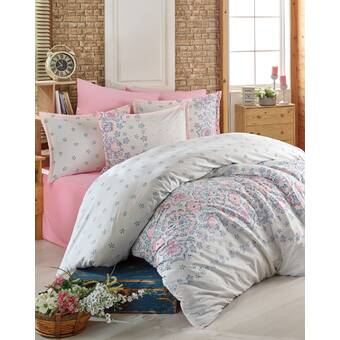 Charlton Home Slover Bouquet 100 Ranforce Cotton Duvet Cover Set Wayfair