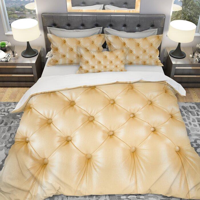 Designart Luxury Classic Sofa Leather Duvet Cover Set