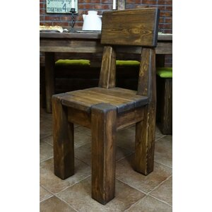 Rustic Solid Pinewood Dining Chair