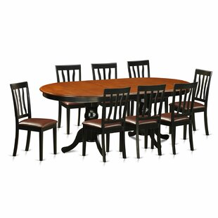 Germantown 9 Piece Extendable Solid Wood Dining Set DarHome Co