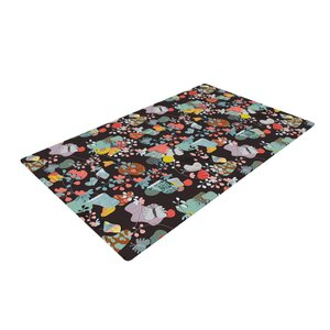 Akwaflorell at Home Black/Green Area Rug