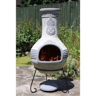 Steel Charcoal/Wood Burning Chiminea By Gardeco