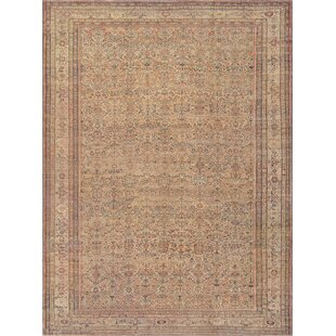 One-of-a-Kind Antique Sultanabad Handwoven Wool Beige Indoor Area Rug By Mansour