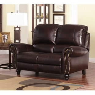 Kahle Leather Reclining Loveseat Darby Home Co