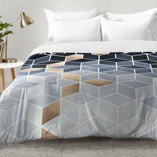 Soft Gradient Cubes Comforter Set