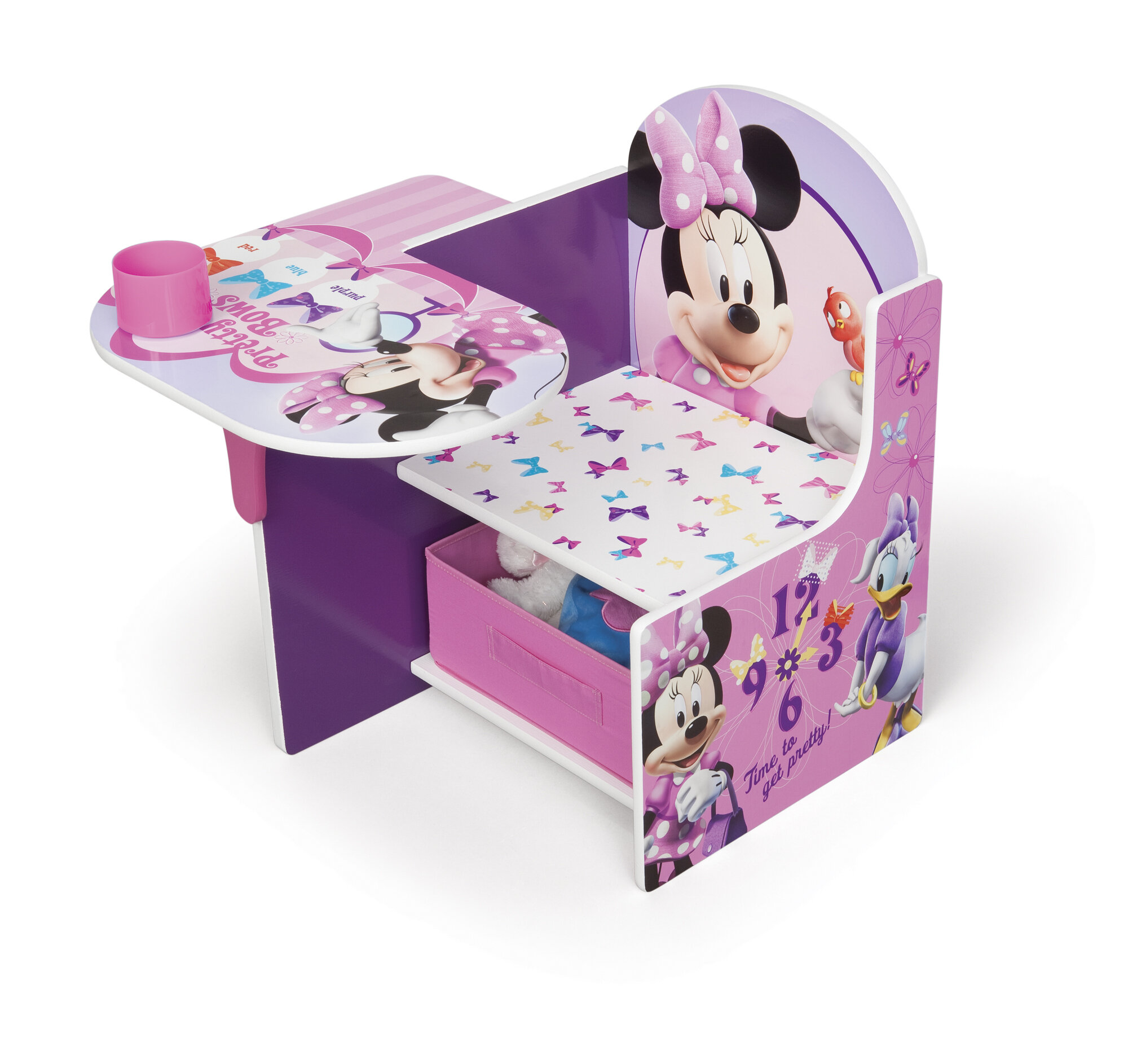 Incredible Minnie Kids Desk Chair With Storage Compartment And Cup Holder Pdpeps Interior Chair Design Pdpepsorg