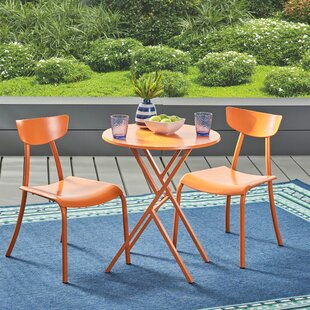 Alondra 3 Piece Iron Bistro Set by Turn on the Brights