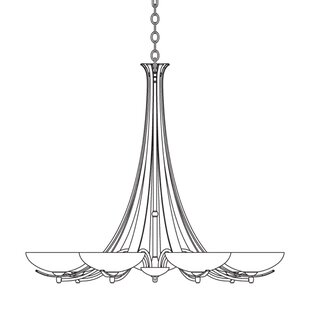 Hubbardton Forge 7-Light Shaded Chandelier