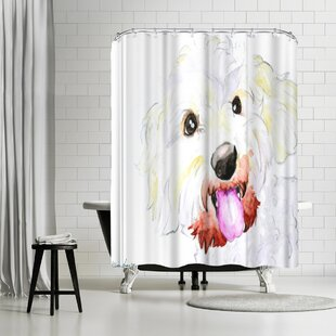 Allison Gray Miniature Poodle Mix Single Shower Curtain