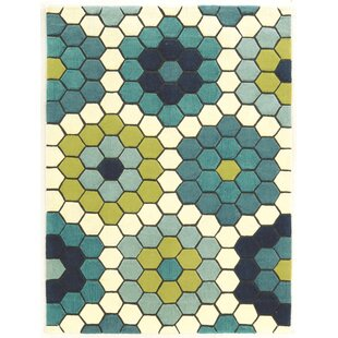 Scheidt Hand-Tufted Blue/Green Area Rug