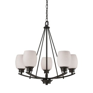 Ebern Designs Adalyn 5 Light Shaded Chandelier