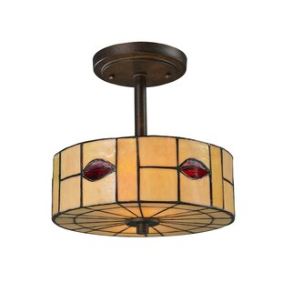 Whitley 1-Light Semi-Flush Mount by Fleur De Lis Living