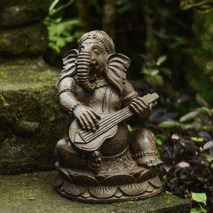 My Spirit Garden Volcanic Ash Tabla Ganesha Statue