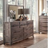 Tirado 7 Drawer Double Dresser with Mirror by Gracie Oaks