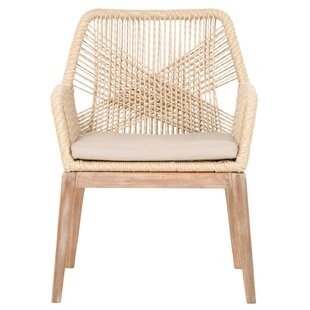 Arnone Rope Weave Solid Wood Dining Chair (Set of 2) by Bungalow Rose