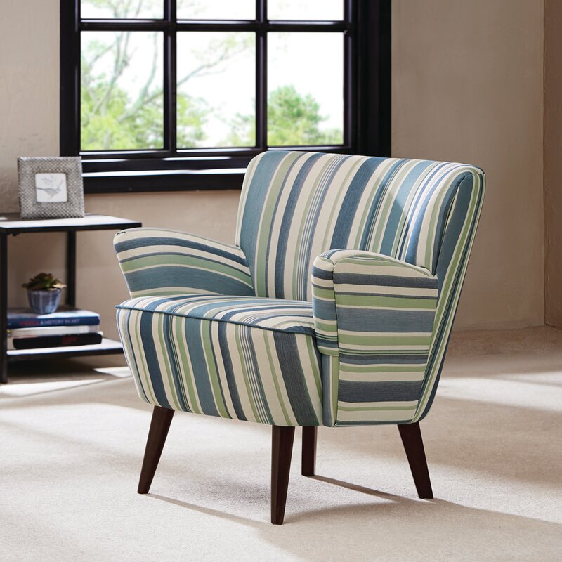 Mid-century Accent Chairs, Mid century Modern Accent Chairs, Mid Century Modern Furniture, Striped Accent Chairs