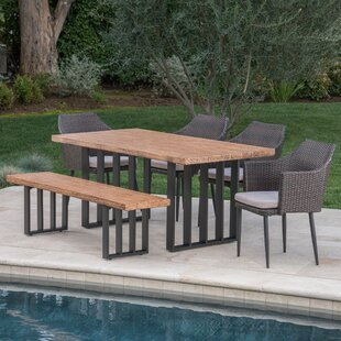 Gracie Oaks 6 Piece Dining Set with Cushions