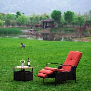Ebern Designs Feldt Chaise Lounge With Cushion