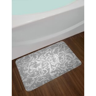 Price Check Victorian Large Leaf Floral Pattern Swirl Abstract French Print Non-Slip Plush Bath Rug By East Urban Home