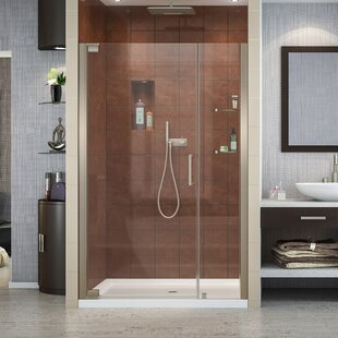 Inexpensive Elegance 46.25 x 72 Pivot Frameless Shower Door with Clearmax™ Technology ByDreamLine