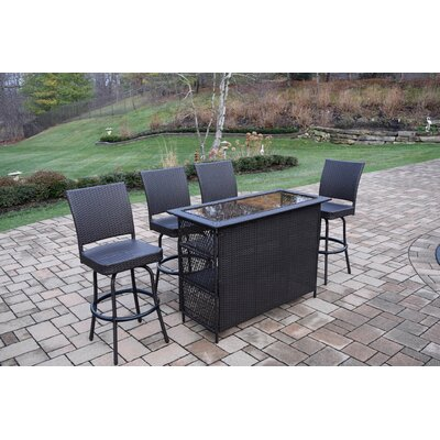 Parishville 5 Piece Bar Set by Darby Home Co New