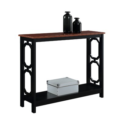 Ardenvor Console Table Table Base Color: Black, Table Top Color: Cherry by Beachcrest Home