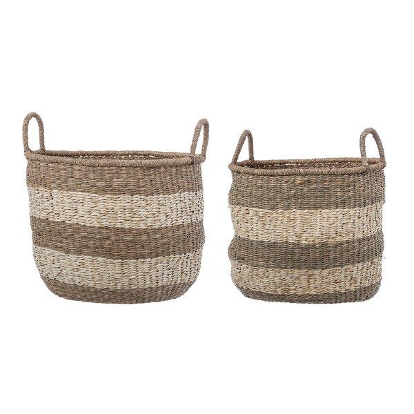 crocheted madison shelf baskets pier decor basket imports decorative storage