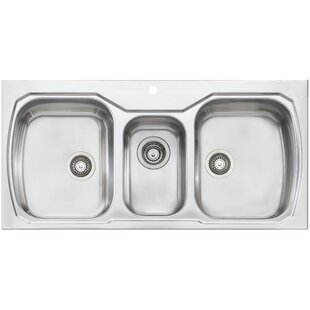 Triple Bowl Kitchen Sinks Triple kitchen sinks youll love wayfair save to idea board oliveri melbourne 42 x 20 triple bowl kitchen sink workwithnaturefo