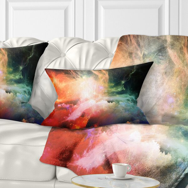 East Urban Home Abstract Fabric Of Space And Time Lumbar Pillow Wayfair