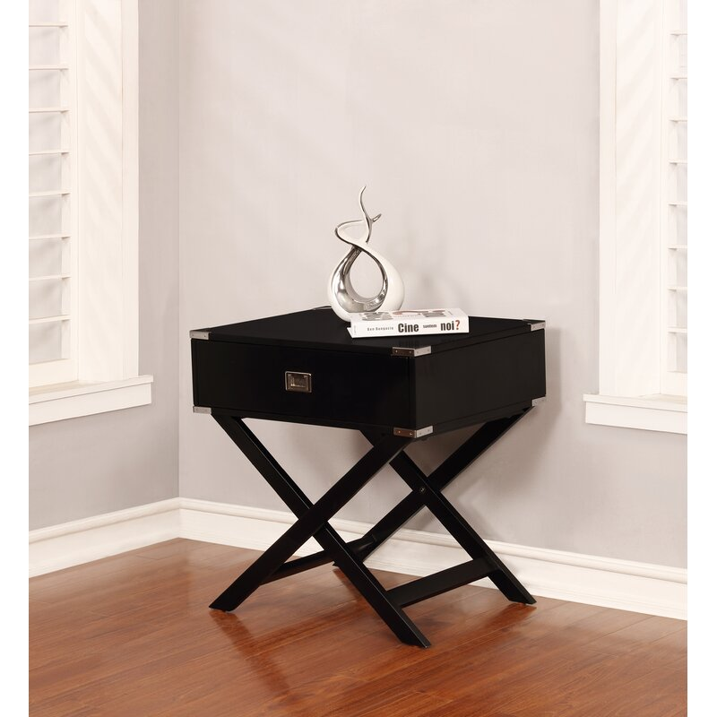 Beachcrest Home Antonina End Table With Storage Reviews Wayfair