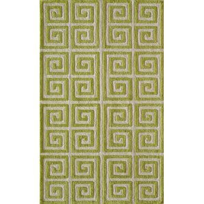 Finley Hand-Tufted Apple Green Area Rug