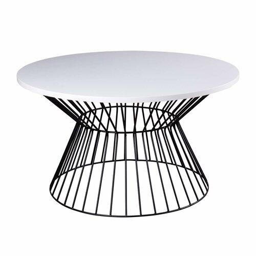 Couchtisch Delphos Brambly Cottage Farbe (Tischgestell): Schwarz| Farbe (Tischplatte): Weiß | Wohnzimmer > Tische > Couchtische | Brambly Cottage
