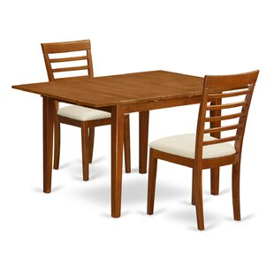 Lorelai 3 Piece Dining Set by Alcott Hill New