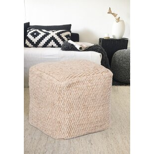 SantaCruz Handmade Square Wool Pouf by Bungalow Rose