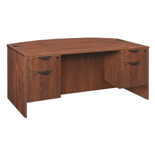 Linh Bow Front Double Pedestal Executive Desk