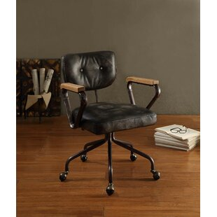 17 Stories Severus Mid-Back Leather Executive Chair
