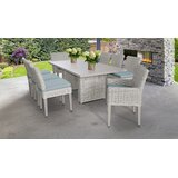 Claire 9 Piece Dining Set with Cushions