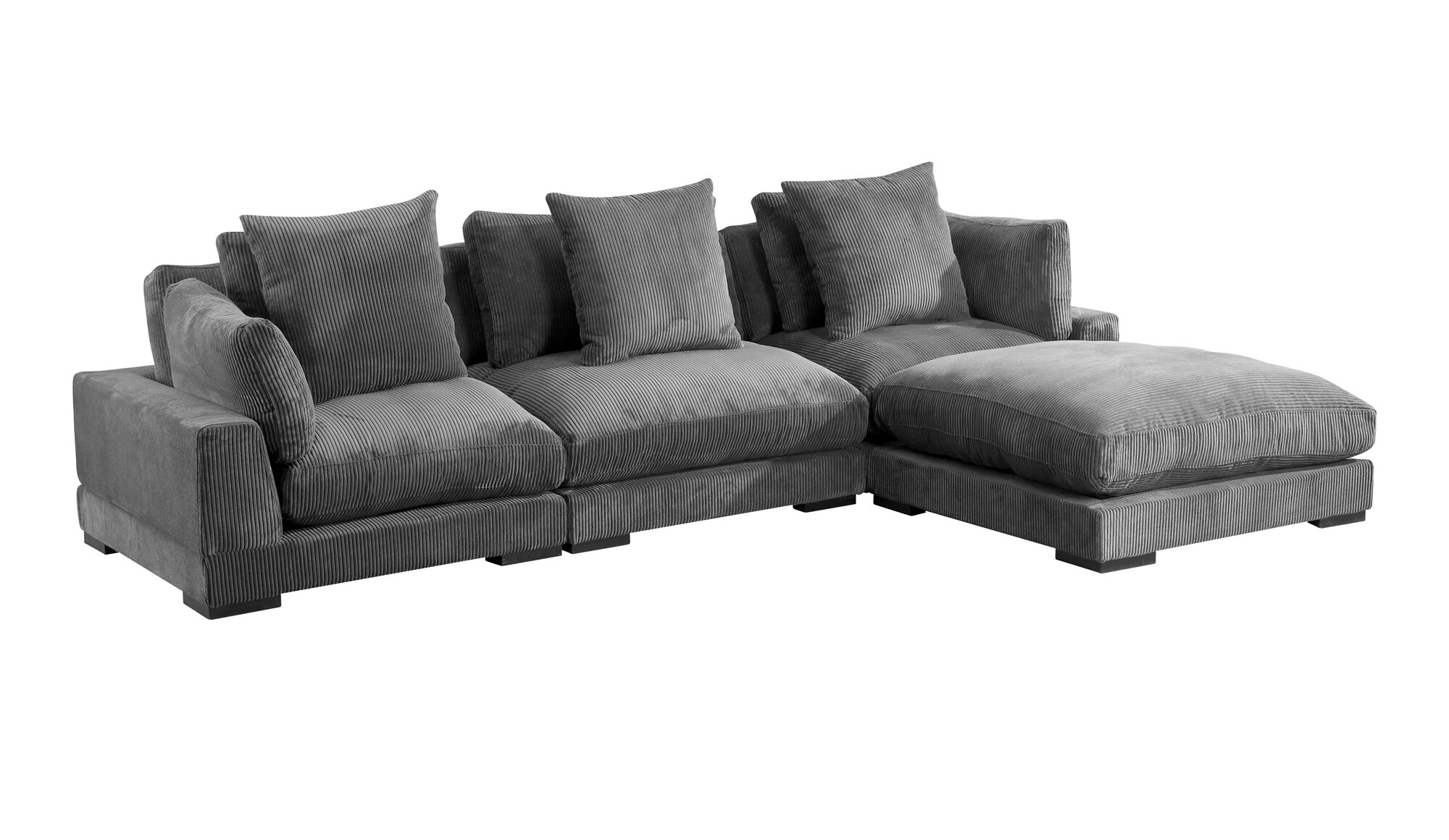 Red Barrel Studio Lytle 130 5 Wide Reversible Modular Sofa Chaise With Ottoman Wayfair