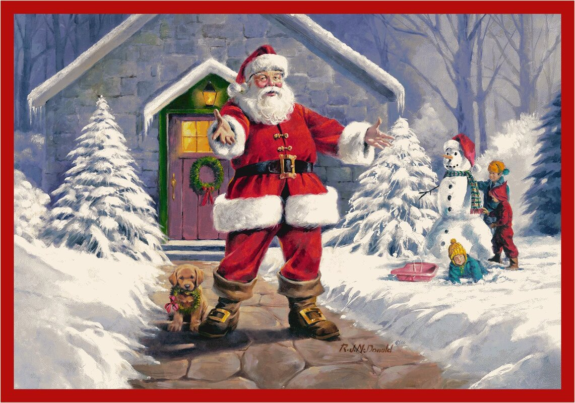RJ McDonald Welcome Santa Rug from Wayfair!