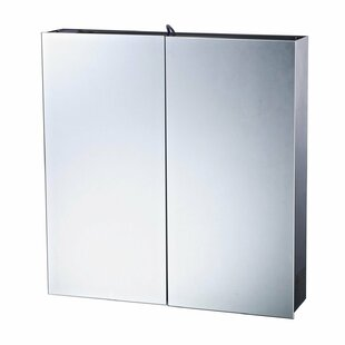 60cm X 60cm Surface Mount Mirror Cabinet With LED Lighting