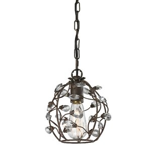 Best Deals Creed 1-Light Crystal Pendant By House of Hampton
