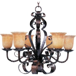 Fleur De Lis Living Willer 6-Light Shaded Chandelier