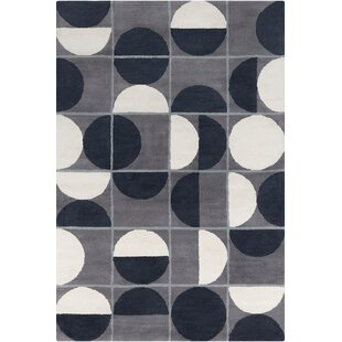 Buying Willa Hand Tufted Wool Grey/Black Area Rug ByCorrigan Studio