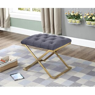 Mercer41 Centers Button-Tufted Upholstered Bench